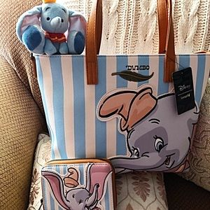 Disney Loungefly Dumbo Tote, Wallet & Plushie